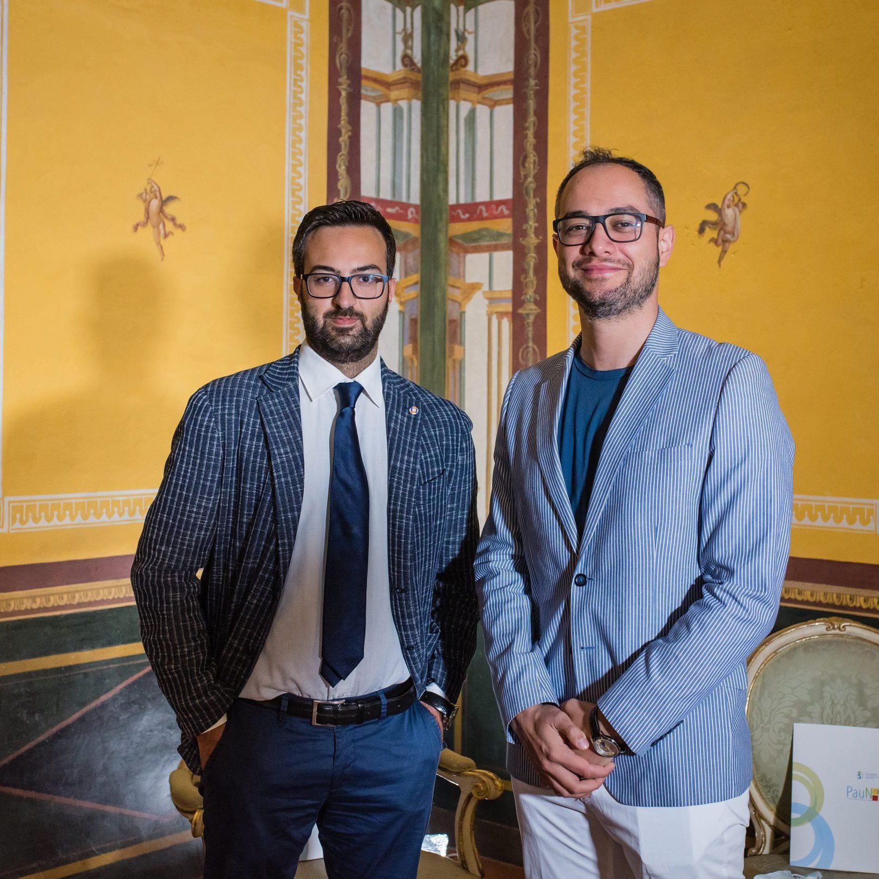 Peppe Alviggi e Antonio Del Vecchio presso Palazzo Reale per la terza tappa del progetto PAUN