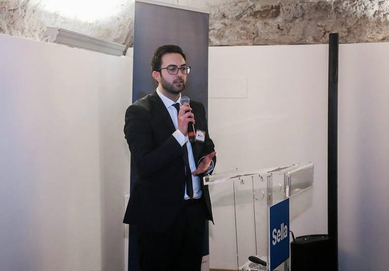 Giuseppe Alviggi Gruppo Stratego presenta l'evento di Banca Sella
