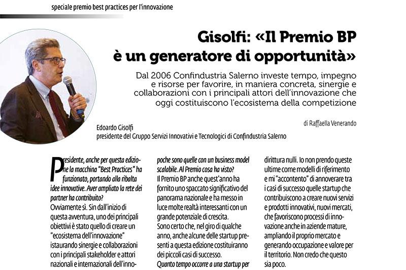 You are currently viewing Edoardo Gisolfi intervistato da Costozero, house organ di Confindustria Salerno