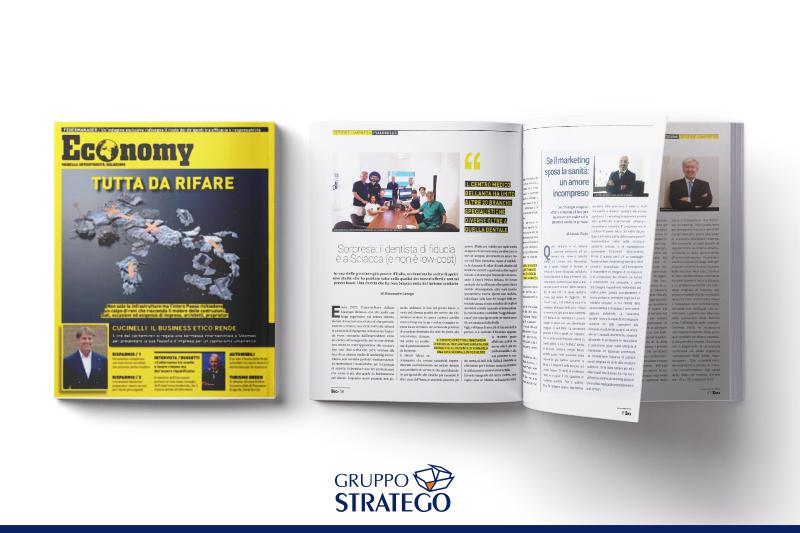 """You are currently viewing Sulla rivista """"Economy"""" si parla di marketing sanitario con Antonio Vitolo, CEO di Gruppo Stratego"""