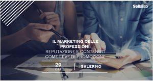 Read more about the article Isabella Fusillo e Antonio Vitolo di Gruppo Stratego relatori al primo workshop di Sellalab sul marketing delle professioni