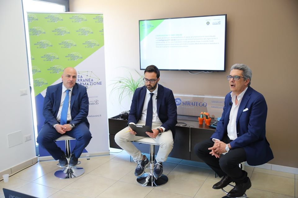 Giovanni D'Avenia, Giuseppe Alviggi ed Edoardo Gisolfi Borsa Mediterranea della Formazione e del Lavoro