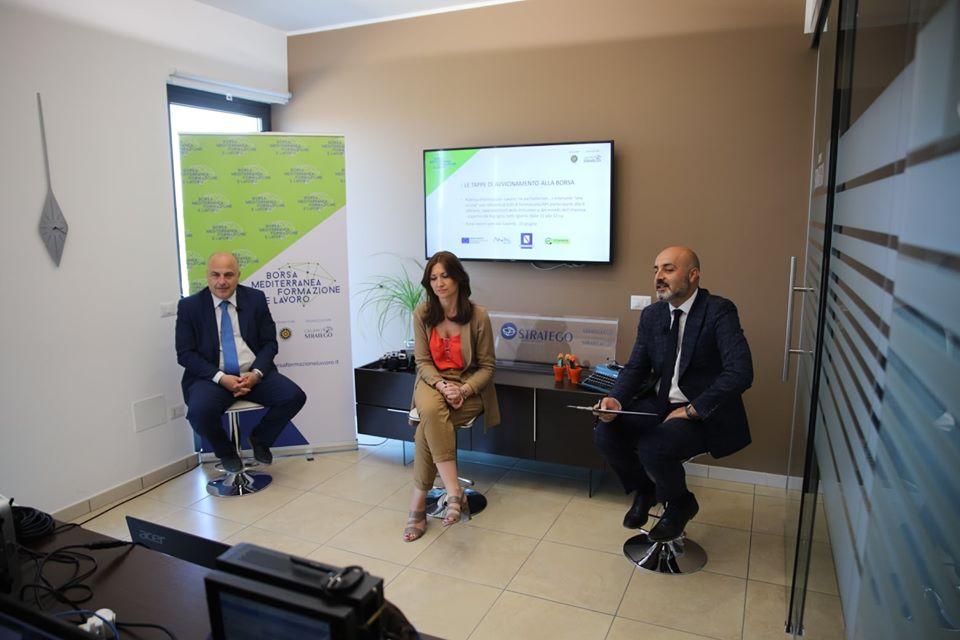 Giovanni D'Avenia, Mariapia Mercurio e Antonio Vitolo Borsa Mediterranea della Formazione e del Lavoro