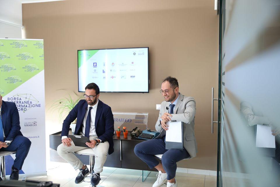 Peppe Alviggi e Antonio Del Vecchio Borsa Mediterranea della Formazione e del Lavoro 2