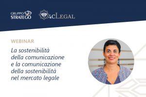 """Read more about the article Isabella Fusillo di Gruppo Stratego tra i relatori del webinar organizzato da 4cLegal, nell'ambito dell'iniziativa """"La Direzione Legale Sostenibile"""""""