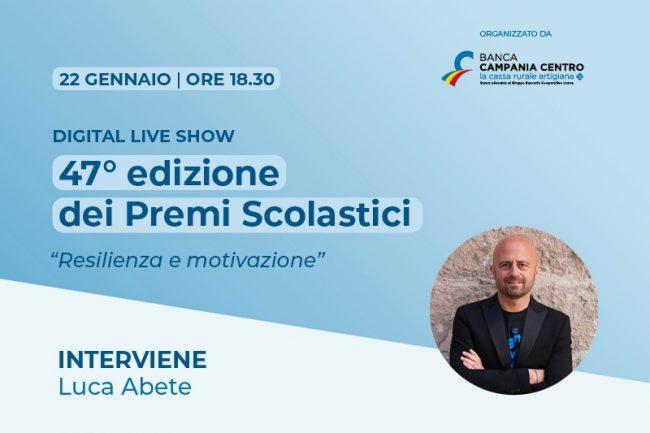 Digital Live Show della 47°edizione dei Premi Scolastici promosso da Banca Campania Centro