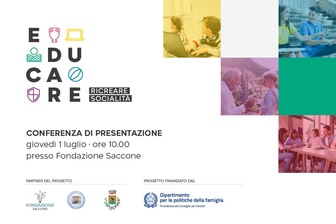 Read more about the article Giovedì 1° luglio Conferenza Stampa del progetto EduCare-Ricreare Socilità